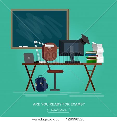 Vector detailed objects for education. Flat style vector illustration isolated on white background.