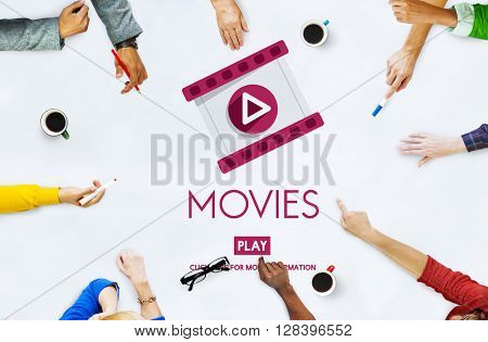 Movies Movie Opera Audience Cinema Show Concept