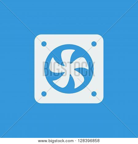 Fan Icon In Vector Format. Premium Quality Fan Symbol. Web Graphic Fan Sign On Blue Background.