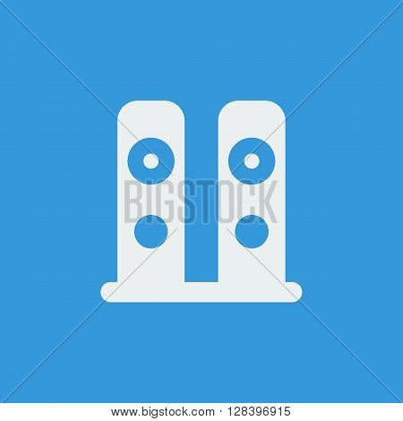 Speakers Icon In Vector Format. Premium Quality Speakers Symbol. Web Graphic Speakers Sign On Blue B