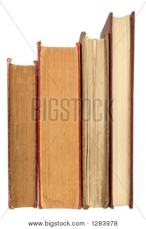 Old Books, Isolated On A White Background.