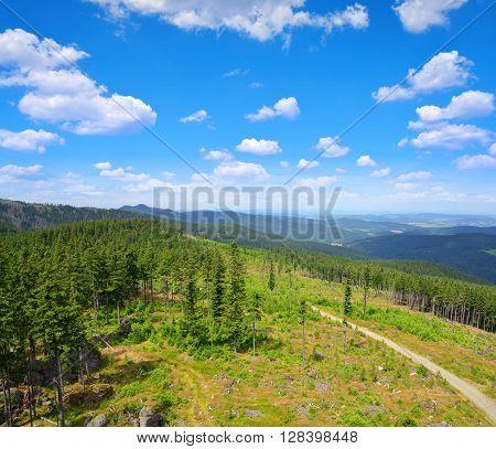 National park Sumava in Czech Republic. Summer landscape.