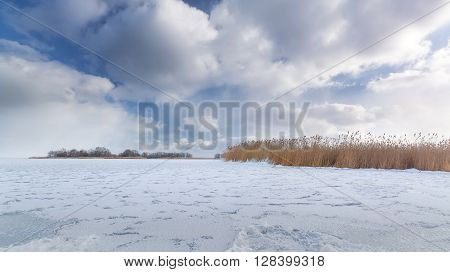bright winter photo beautiful warm day Ukraine