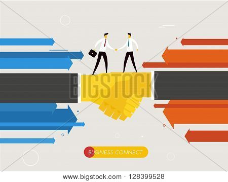 Businessmen shaking hands. Cooperation interaction. illustration Eps 10 file. Success, Cooperation