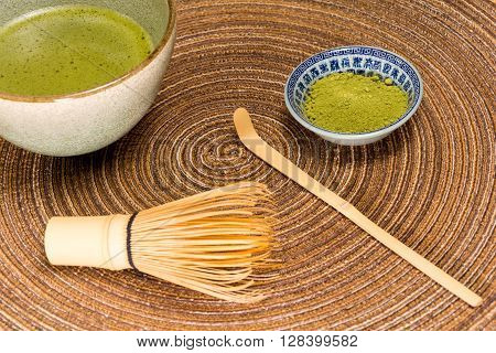 Matcha Green Tea In A Bowl