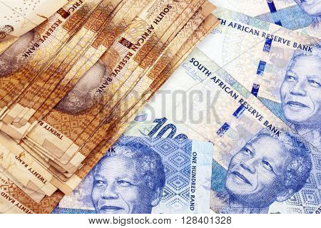 Collection Of South African Twenty And  Fifty  Rand   Notes