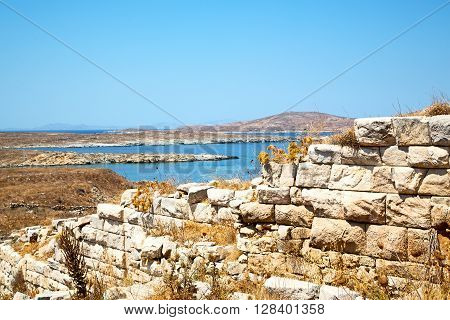 Temple  In Delos   The  Acropolis And Old Ruin