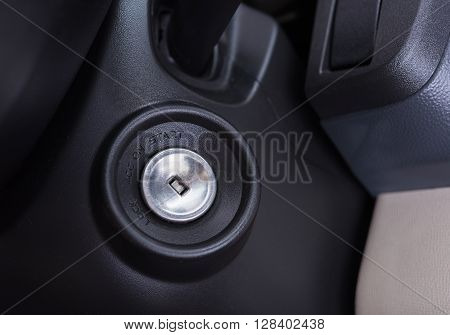 Car Interior Engine Start Key