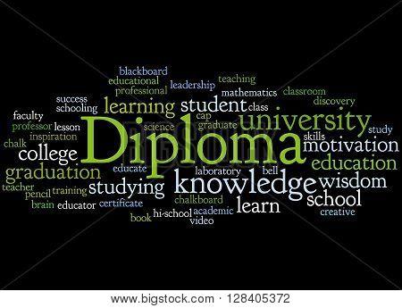 Diploma, Word Cloud Concept 5