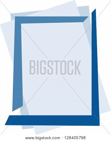 Blue abstract frame. Vector illustration. eps 10