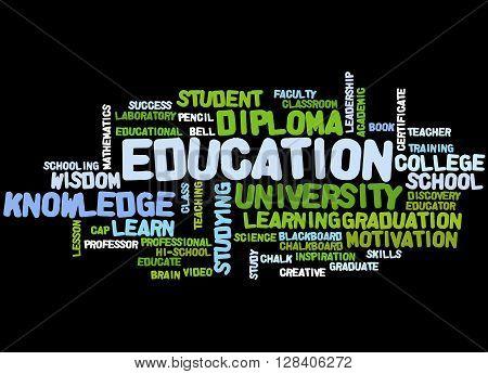 Education, Word Cloud Concept 8