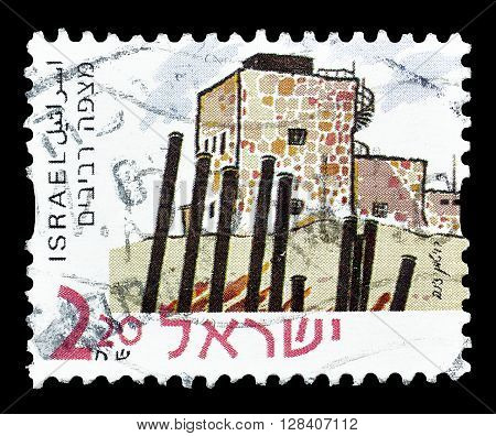 ISRAEL - CIRCA 2000 : Cancelled postage stamp printed by Israel, that shows Mitzpe Revivim circa 1979..