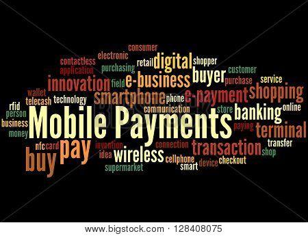 Mobile Payments, Word Cloud Concept 6