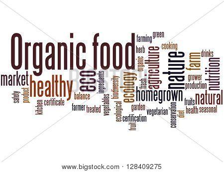 Organic Food, Word Cloud Concept