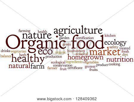 Organic Food, Word Cloud Concept 5