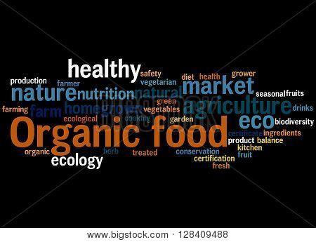 Organic Food, Word Cloud Concept 8