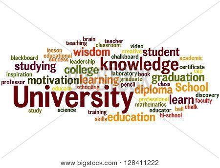 University, Word Cloud Concept 9