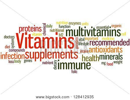 Vitamins, Word Cloud Concept