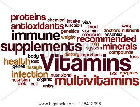 Vitamins, Word Cloud Concept 3