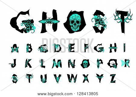 Geometric font. Creative Alphabet. Abstract  hipster font,  drawn by hand illustration