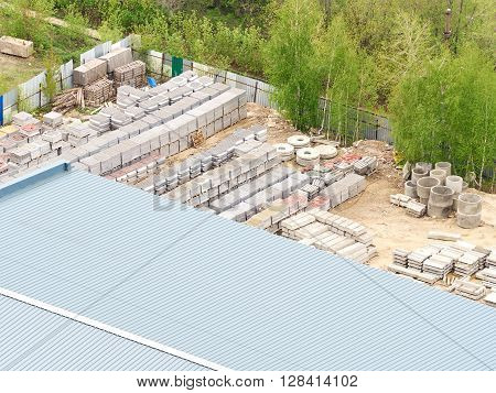 Stacks Of Concrete Products Of Stock