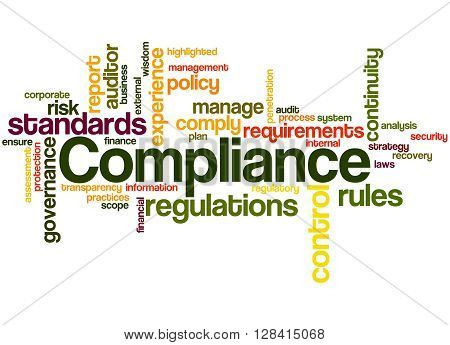 Compliance, Word Cloud Concept 8