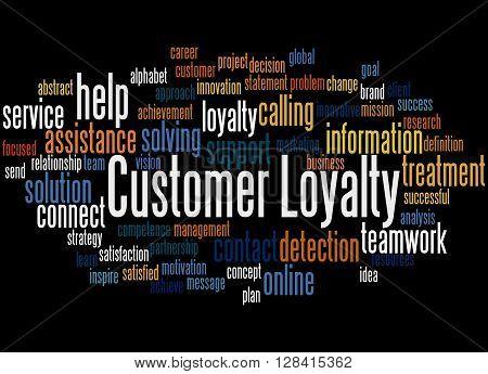 Customer Loyalty, Word Cloud Concept 2