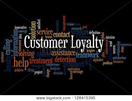 Customer Loyalty, Word Cloud Concept 4