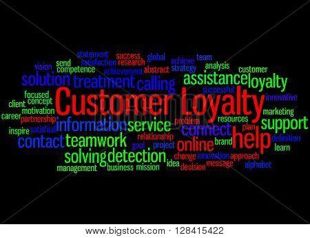 Customer Loyalty, Word Cloud Concept 6