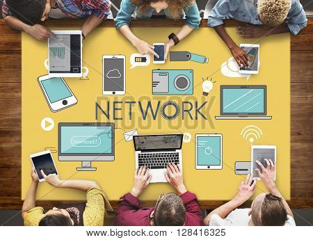 Network Networking Internet Social Media Concept