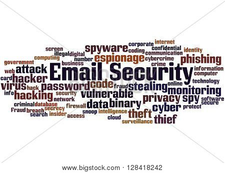 Email Security, Word Cloud Concept 3