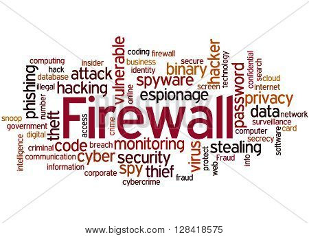 Firewall, Word Cloud Concept