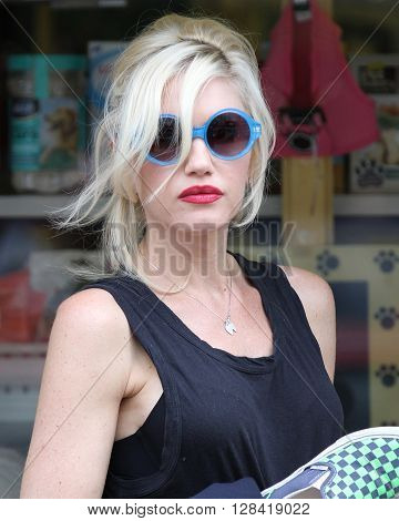 LONDON, UK - AUG 20,  2013: Singer Gwen Stefani seen in Primrose Hill , London.
