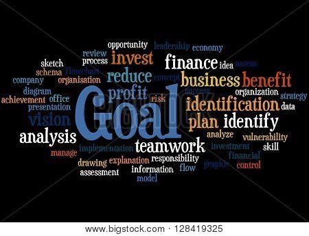 Goal, Word Cloud Concept 2
