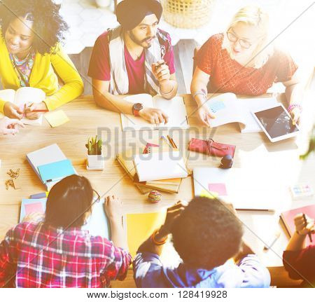 Students Learning Education School University Concept