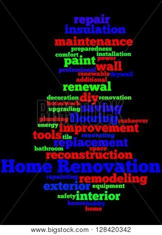 Home Renovation, Word Cloud Concept 6