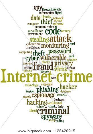 Internet Crime, Word Cloud Concept 6