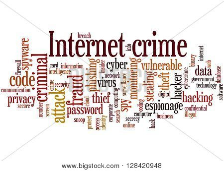 Internet Crime, Word Cloud Concept 8