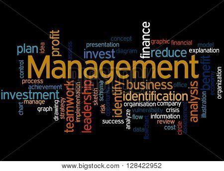 Management, Word Cloud Concept 9