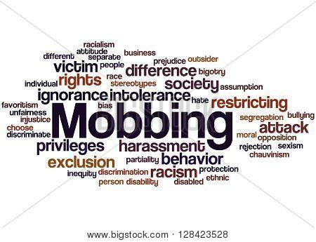 Mobbing, Word Cloud Concept 8
