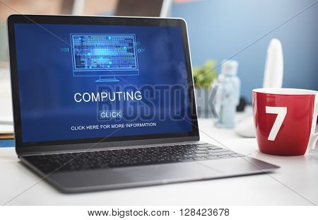 Computing Computer Digital Information Memory Concept
