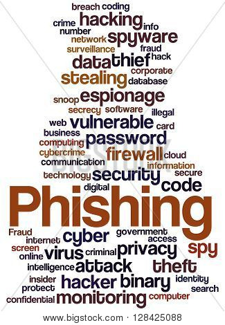 Phishing, Word Cloud Concept 8