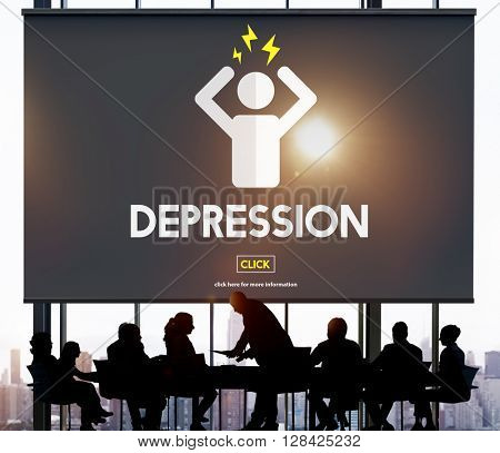 Depression Headache Stress Disorder Illness Concept