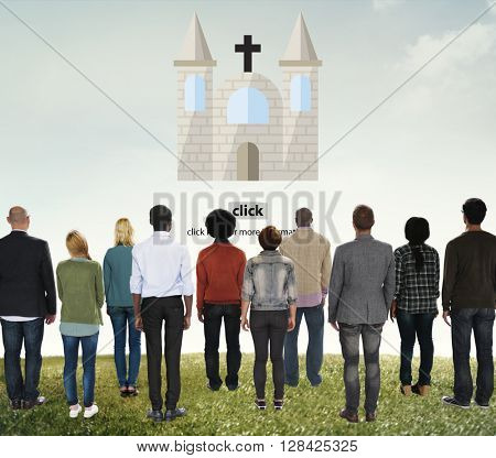 Church God Believe Jesus Pray Concept