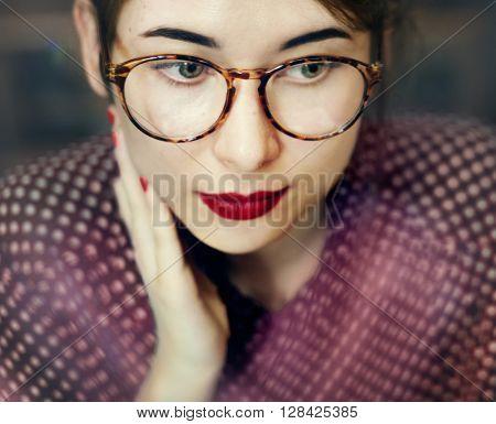 Asian Female Trendy Stylish Beautiful Concept