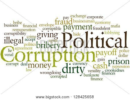 Political Corruption, Word Cloud Concept 6