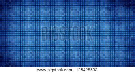 Blue abstract mosaic background - Illustration, 