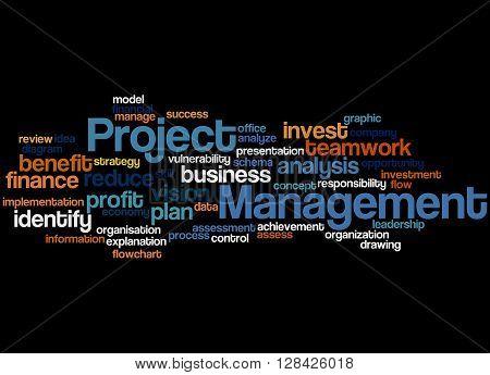 Project Management, Word Cloud Concept 5