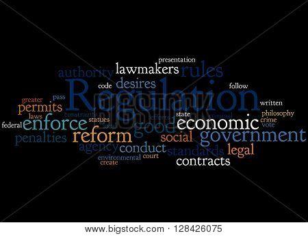 Regulation, Word Cloud Concept 2