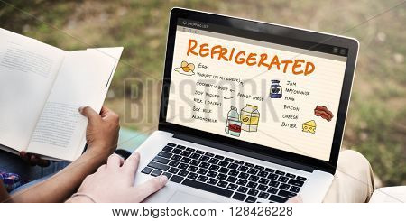 Nutrition Refrigerated Grocery Shopping List Concept